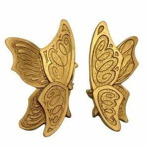 Vintage Wall Art Retro Molded Plastic Butterfly